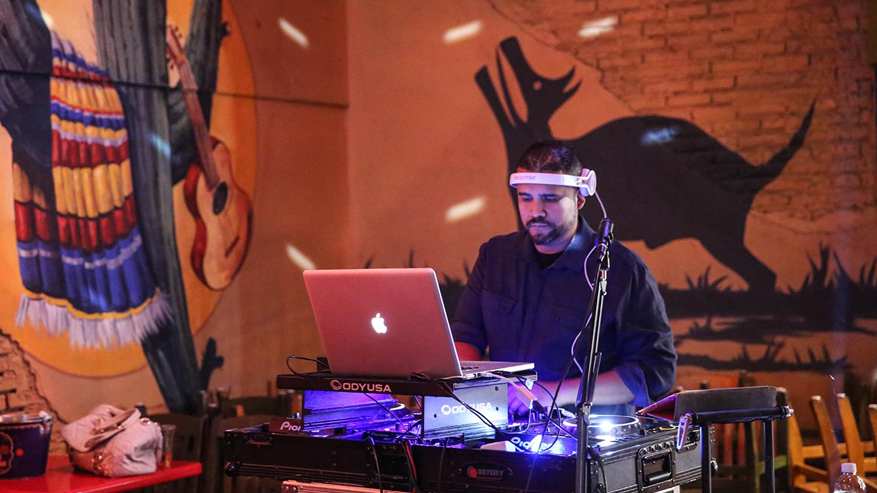 DJ performing at gonzalez y gonzalez